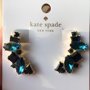 🔵 Kate Spade Oceanic Blue Crawler Earrings